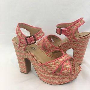 """Madden Girl Platform 5.5"""" Heels Weave Design 7.5M"""